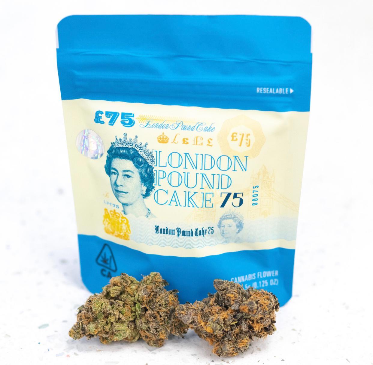 London pound cake cookies strain
